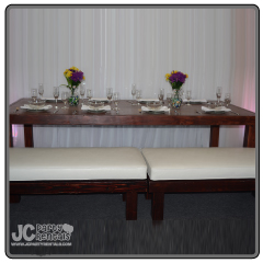 "8' x 48"" Amalfi Table & Benches"